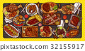 barbecue, vector, food 32155917
