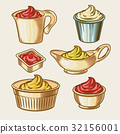 Vector illustration of an engraving style set of 32156001