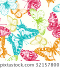 etching, floral, background 32157800