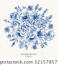 floral, greeting, rose 32157857
