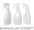 Blank spray bottle packaging with clipping path 32163677