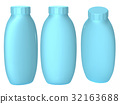 Blue plastic bottle packaging with clipping path 32163688