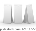 White folded paper bag with clipping path 32163727