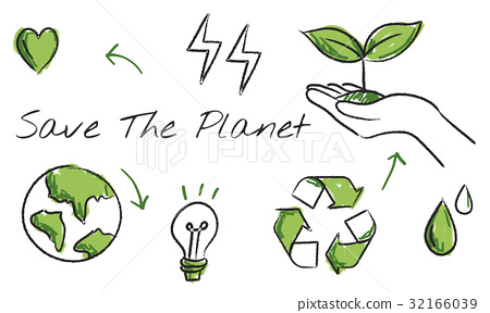 Environmental green icon diagram sketch 32166039