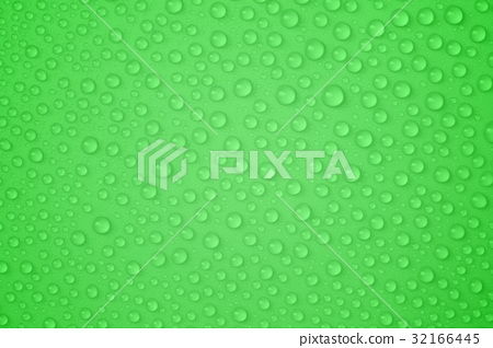 Water-drops on green 32166445
