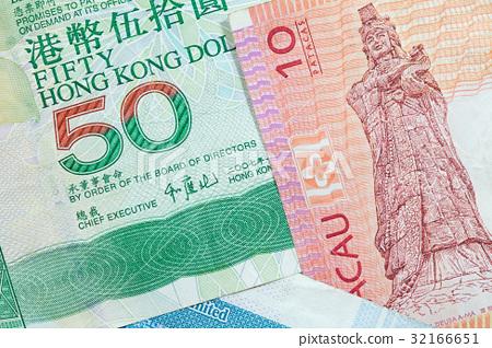 Hong Kong, Macau dollar bank notes 32166651