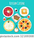 Vector illustration of dishes of Russian cuisine 32169368