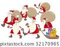 santa claus group cartoon 32170965