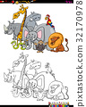safari animal characters coloring book 32170978