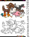 farm animal characters coloring book 32170980