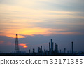 Oil refinery at sunset 32171385
