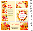 Fast food restaurant banner and poster template 32172308