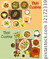 Thai cuisine icon set for tasty asian food design 32172339