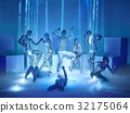 The group of modern ballet dancers 32175064