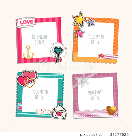 Romantic photo frame 32177620