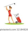 高尔夫球手 女人 女性 32184828