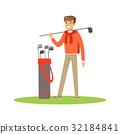 高尔夫球手 男性 男人 32184841
