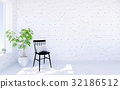 White brick modern living room interior  32186512