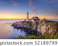 Portland, Maine, USA at Portland Head Light. 32189799