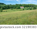 Lorraine. Typical landscape with hills, pasture 32190383