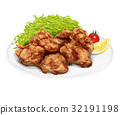 Illustration from a fried chicken 32191198