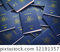 Passports of Australia background. Immigration 32191357