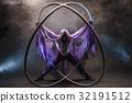 Fairy-tale character assassin in a purple cloak 32191512