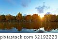 Landscape forest autum 3D render 32192223