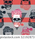skeleton, seamless, pattern 32192873