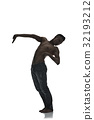 Silhouette of a young man dancer isolated 32193212
