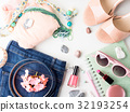 Summer lifestyle woman clothes flat lay 32193254
