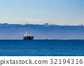Black cargo ship 32194316