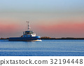 Blue small tug ship 32194448