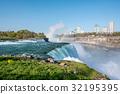 Niagara Falls waterfall with rainbow 32195395