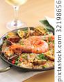 seafood, shrimp, paella 32198656