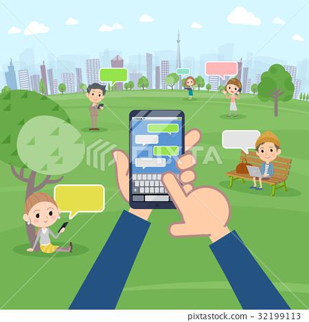 智能手机 通信 SNS 32199113