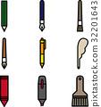 vector, vectors, pen 32201643