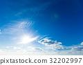 blue sky with cloud 32202997
