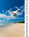 Drone fly in the blue sky 32203013