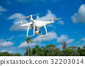 Drone fly in the blue sky 32203014