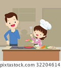 family kitchen cooking 32204614
