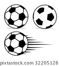 Football ball flat design set  32205126
