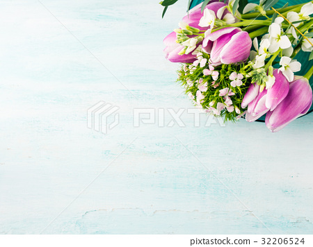 Flowers tulips roses spring pastel colors 32206524