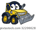 Digger Bulldozer Cartoon Mascot 32206628