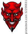 Devil Sports Mascot 32206631