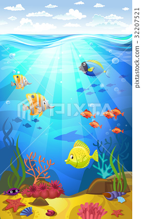 Seabed with corals 32207521