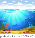 Underwater- Seabed with corals 32207523