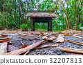 Bamboo forest with pavilion 32207813