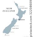 New Zealand political map 32208609