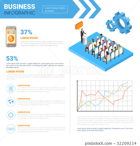 Business Infographics Set With Copy Space For 32209214